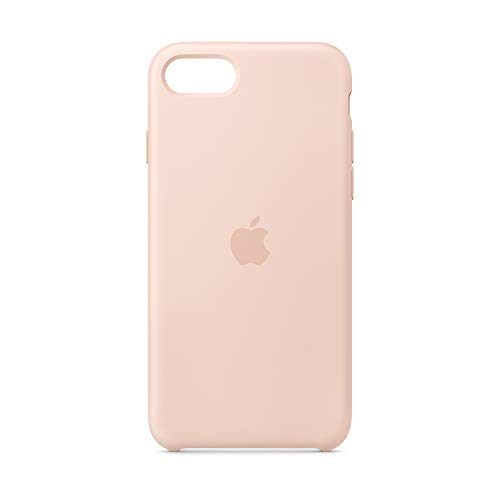 Apple Silikon Case (für iPhone SE) - Sandrosa
