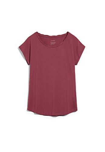 ARMEDANGELS Laale - Damen T-Shirt aus Bio-Baumwolle L Rosewood Shirts T-Shirt Rundhals Regular fit