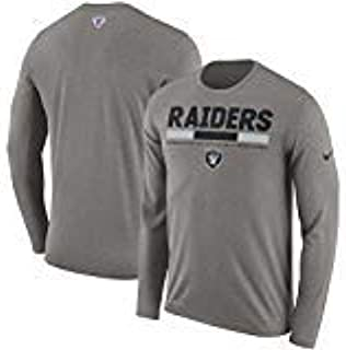 Oakland Raiders Youth Boys Legend Staff DRI-FIT Long Sleeve Shirt - Gray