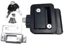 HH New popularity Black RV Paddle Entry Dead Lock Latch Handle Knob Door Attention brand