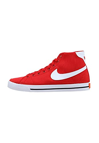 Nike Court Legacy Mid Canvas, Scarpe da Tennis Uomo, Rosso Bianco, 47 EU