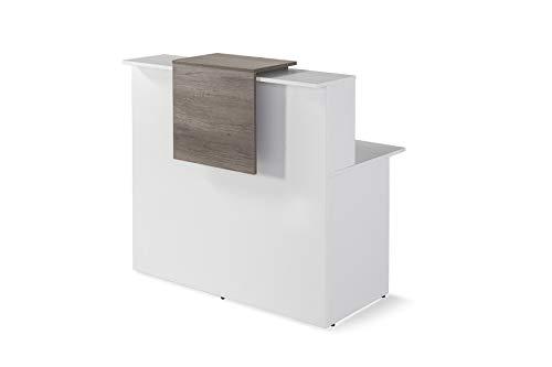 Mostrador De Recepcion Moderno De OFITURIA Color Blanco Perfecto Para Empresa y Oficina Con Entrega Inmediata 48-72H Medidas 1200x740x1150 MM ✅