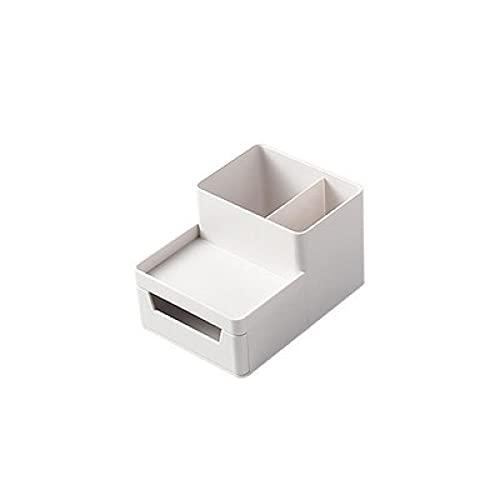 Oficina en casa Organizador de escritorio Caja de almacenamiento apilable Cajón Carpeta de archivos A4 Bandeja de almacenamiento Cómodo soporte para bolígrafo para teléfono Contenedor Organizar