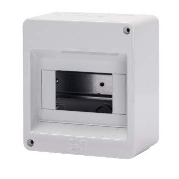 Gewiss Centralino Protetto Senza Porta Pareti con centrini di foratura predisposto per alloggiamento morsettiere IP40 (GW40024-6 Moduli)