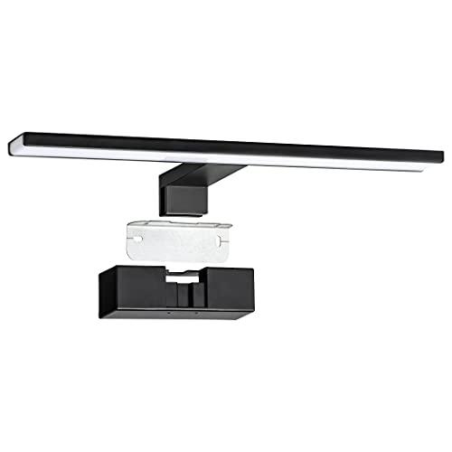 SEBSON® Lampara Espejo Baño LED 40cm, Luz Espejo Pinza + Armario + Pared, 8W, 600lm Blanca Neutra 4000K, IP44-400x128x40mm ⭐