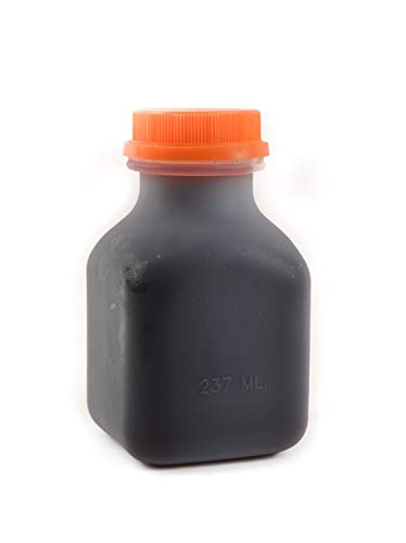 [100 PACK] Empty Plastic Juice Bottles with Tamper Evident Caps 8 OZ - Smoothie Bottles - Ideal for Juices, Milk, Smoothies, Picnics and even Meal Prep by EcoQuality Juice Containers