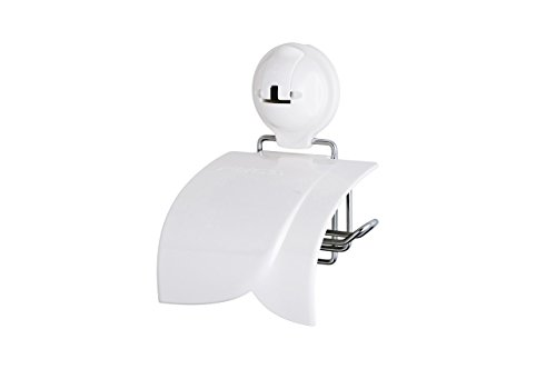 Suction Cup Toilet Paper Holder with Cover
