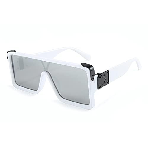 ShZyywrl Gafas De Sol Gafas De Sol Cuadradas De Gran Tamaño Tendencia A La Moda Gafas Verde Azul Combinadas Sombra C2