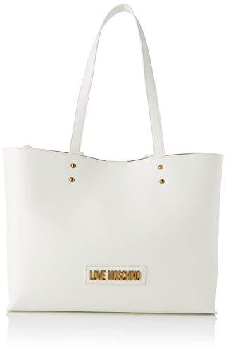 Love Moschino Jc4262pp0a, Borsa Tote Donna, Bianco (White PU), 13x27x35 cm (W x H x L)