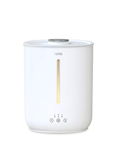 Humidifiers for Bedroom, TOPPIN Cool Mist Humidifiers for Bedroom Whisper Quiet Ultrasonic Essential Oil Humidifiers with 2.8L Tank 24 Hours Auto Shut Off Silent Sleep Cozy Night Light Perfect for Bedroom Baby Room