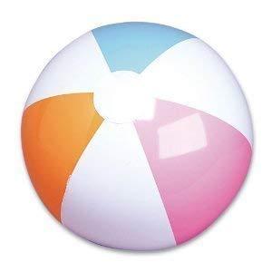 "RIN 860114002587 2 Dozen (24) 12"" Traditional Classic 6 Panel Beachballs/Pool Party Favor Beach Ball Pack"