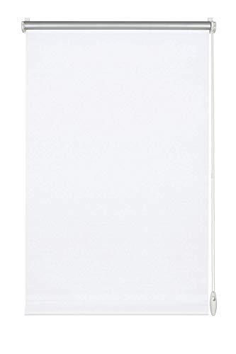 GARDINIA Thermo-Rollo mit Thermo-Rückseite zum Klemmen oder Kleben, Höchste Lichtreflektion, Energiesparend, Lichtundurchlässig, Alle Montage-Teile inklusive, EASYFIX Rollo Thermo, Weiß, 90 x 210 cm (BxH)