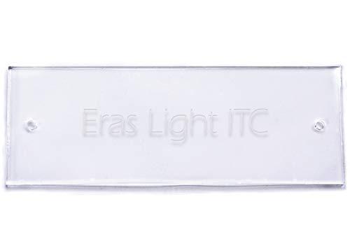 Namensschild mit persönlichem Wunschtext aus hochwertigem Acryl, transparent, 125 x 45 mm, rechteckig - Türschild,Klingelschild, Gravurschild