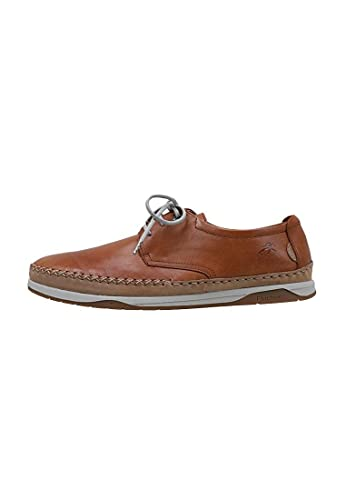 Fluchos   Zapato de Hombre   Kendal F0811 Habana Cuero   Zapato de Piel   Cierre con Cordones   Piso de Goma