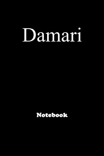 Damari: Personalized Notebook with Custom Name & Cover . College Ruled Journal for men and Boys ,150pages
