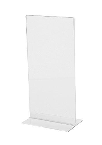 SIGEL TA224 Tischaufsteller gerade, für DIN lang, glasklar Acryl - weitere Größen