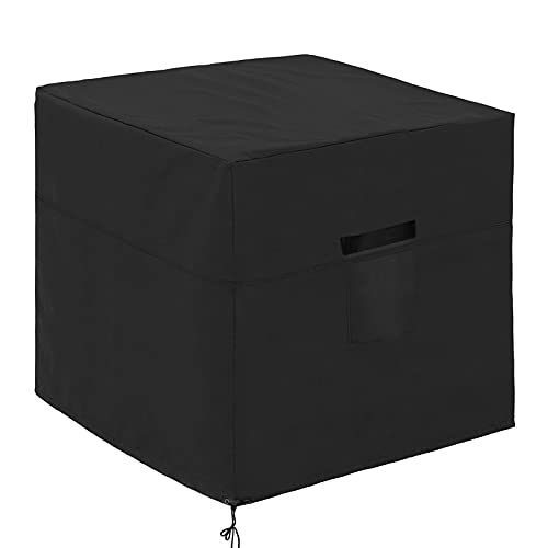Little World Air Conditioner Cover for Outside Unit, Universal Veranda Winter AC Cover American Standard Furniture Central Outdoor Vent Full Cover 34x34x30 Inch, Square