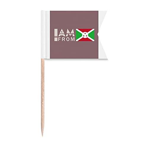 I Am from Bur&i Art Deco Geschenk Mode Zahnstocher Flaggen Kennzeichnung für Party Kuchen Lebensmittel Käseplatte