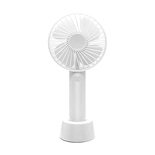 ZJSXIA Nuevo Mini Ventilador de Mano portátil Recargable de Escritorio de refrigeración con batería con Base 3 Modos para Viajes de Oficina en casa Ventilador portatil (Color : White)