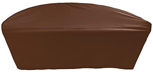 Telone di copertura premium per mobili da giardino, semicircolare, diametro 155 x profondità 77,5 x altezza 95 cm, colore marrone