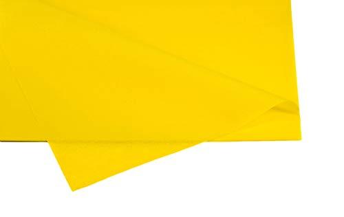 Creativery Seidenpapier - Tissue Papier 50 x 75cm 10 Bögen Gestalten Dekorieren Vepacken bunt Farbe gelb 645