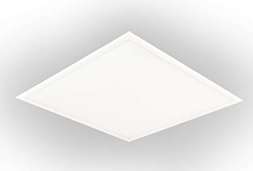 LEDAXO LED-paneel PAE-06-30, 3.600 lm / 30W, 4000 K (neutraal wit), vierkant 62x62 cm, geschikt voor droogdeken, beeldschermwerkplaats (UGR <19), wit frame 5 jaar fabrieksgarantie