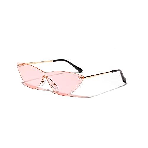 Gafas de Sol Retro Cat'S Eye Borderless SiaméS Transparente Mujer Hombre-B
