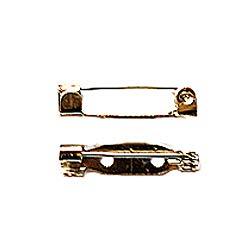 アクセサリーパーツ 金具 ブローチピン ウラピン 2ホール付き 銀色 ニッケルメッキ 21mm 10コ入りサービスパック