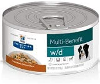 HILL'S Prescription Diet w/d Multi-Benefit Digestive/Weight/Glucose/Urinary Management Vegetable & Chicken Stew Canned Dog Food 12/5.5 oz