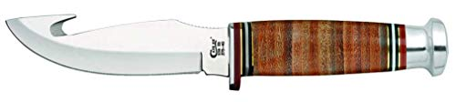 CASE XX WR Pocket Knife Fixed Blade Leather Hunter Gut Hook W/Mushroom Cap(375-4G SS Item #10340 - (375 4G SS) - Length: 8 1/2 Overall Inches