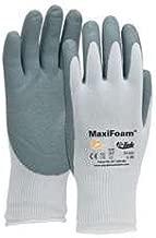 G-Tek MaxiFoam Gloves Foam Nitrile Coated Palm-Finger Tips - Size: Small