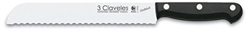 3 Claveles Uniblock   Cuchillo profesional panero 20 cm