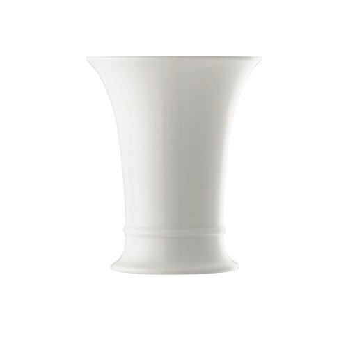 Hutschenreuther Basic Vase, Table Vase, Beaker-Shaped, Porcelain, White, Height : 15 cm, 26015 by Hutschenreuther