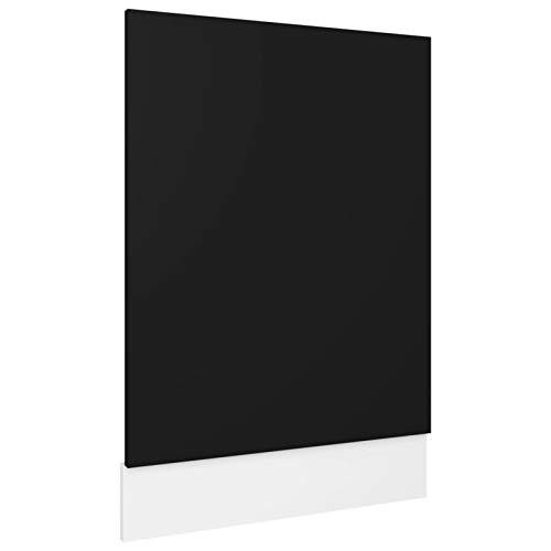 Tidyard Pannello Lavastoviglie da Cucina Moderno in Truciolato Bianco Nero Bianco Lucido Grigio Lucido 45x3x67 cm 59,5x3x67 cm