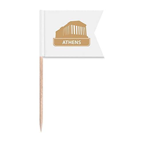Beauty Gift Athen Griechenland Gelbe Markierung Muster Markierung für die Kennzeichnung von Zahnstocher-Flaggen
