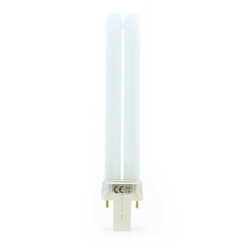 Philips - Lampadina a luce bianca calda PL-S 9 Watt 840, extra 2P G23