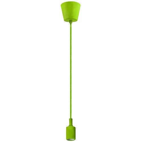 Lampara Colgante Suspension de Techo Verde con Portalampara E27 y Cable Longitud Máxima 155CM Ajustable para Comedor Salon Habitacion Restaurante Oficina de Enuotek