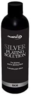 Nushine Silver Plating Solution 5.1 Oz (150ml) - Permanently Plate Pure Silver onto Worn Silver, Brass, Copper and Bronze (Ecofriendly Formula)