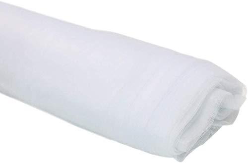 TINWARM - Perno de tul de tela para boda y decoración de fiesta (36,5 m), color blanco