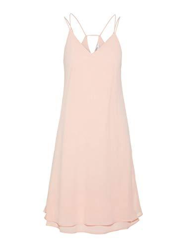 PIECES Damen Pckaysa Sl Dress Noos Kleid, Rosa (Peachskin Peachskin), 38 (Herstellergröße: M)