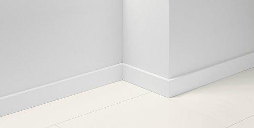 Parador Fußleisten Boden Sockelleiste 18 Uni Weiss Dekor D001