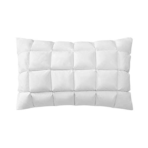 LYUN Almohadas de Cama de Almohada de Ganso hacia Abajo/Blancas para Dormir Almohadas de Lujo para Dormir al Lado del estómago o la Espalda Trazadores (Color : 2 Pack)