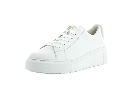 Paul Green Damen Sneaker 4836, Frauen Low-Top Sneaker, Halbschuh strassenschuh schnürer schnürschuh sportschuh Plateau-Sohle,White,37 EU / 4 UK