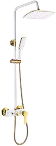Juego de ducha de 3 vías con pintura de cobre y color negro y dorado europeo