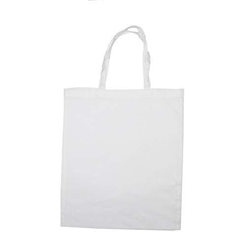 Sac coton à décorer - Blanc - 37 x 42 cm - Sodertex