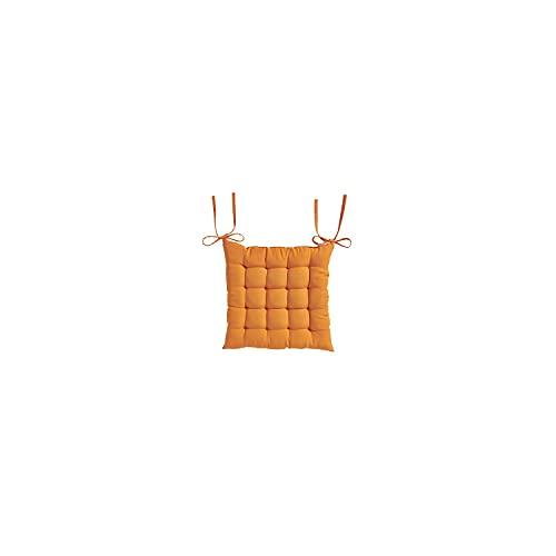 dkdo Galette de Chaise matelassée - 40 x 40 cm - Today - Mandarine