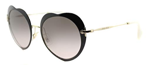 miu miu 0Mu54Rs 1Ab4K0 52 Occhiali da Sole, Nero (Black/Pinkgradientgrey), Donna