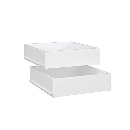 Vicco Kleiderschrank Comfort offen begehbar Regal Kleiderständer Schrank weiß (50er Schublade)
