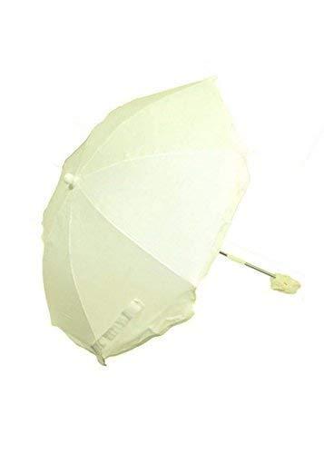 Pesci Baby Tout Nouveau Bébé Parasol/Parapluie/Soleil Protection Adapte à la Plupart Landaus - Crème, 62CM DIAMETER