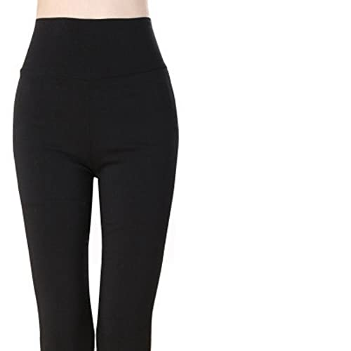 UKKO Leggings Pantalones De Placas Elásticos De La Cintura Altas De La Cintura Altas para Las Mujeres De La Cintura Alta para Las Mujeres.-Black,XXXL